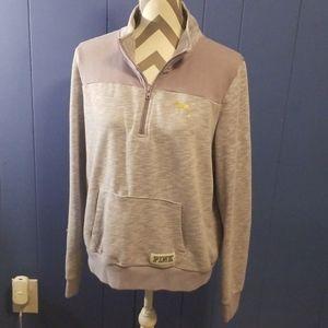 Pink quarter zip pullover size large